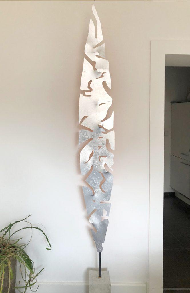 TiKa_ART_Metall_Unikate_Feder_Silber
